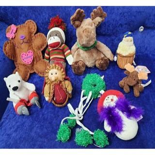 Gấu bông Noel set 9c trang trí