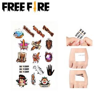 Sticker hình xăm chủ đề game Free Fire kích thước 14.5*21cm