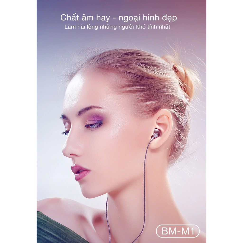 Tai nghe METAL nhét tai Bagi có mic đàm thoại BM-m1