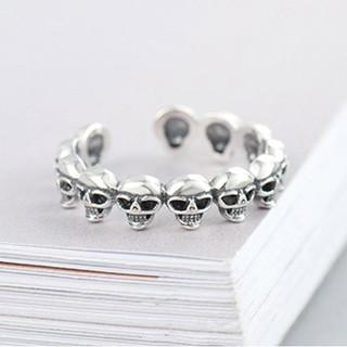 Hình ảnh Nhẫn Bạc Nữ S925 Thiết Kế Hình Đầu Lâu Độc Đáo Cá Tính N-1712 Bảo Ngọc Jewelry-0