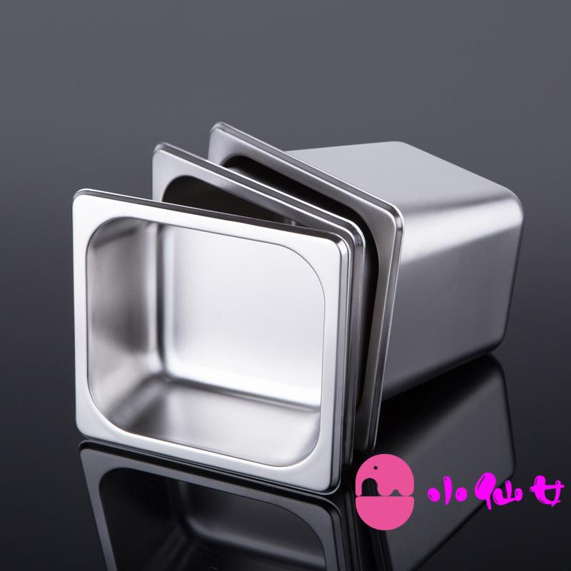 Stainless steel box, number of pots, number of boxes, fractional plate, bowl of ice cream, square basin, stainless steel