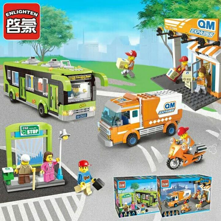 Lắp ráp legoEnlighten 1121 - chuyếnxe bus du lịch