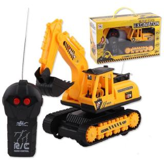 Kids Engineering Cars Remote Control Excavator Baby Truck Toy