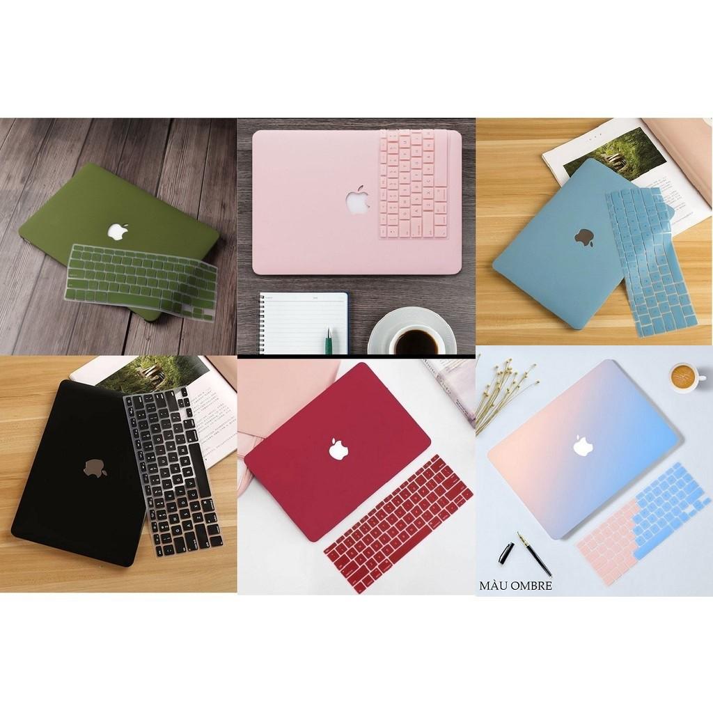 COMBO 4in1 Case, Ốp + Phủ phím cho Macbook ( Tặng Kèm Nút Chống Bụi + Bộ kẹp chống gãy sạc )