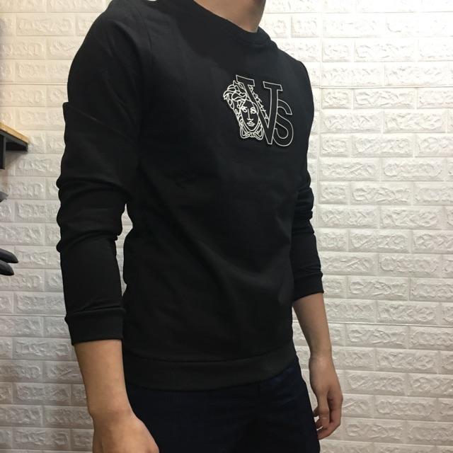 Áo nỉ chất dày dặn logo dập nổi giặt tay giặt máy thoải mái ko bong tróc