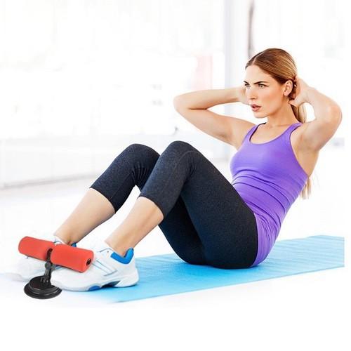 Dụng cụ tập cơ bụng eo gym đồ dùng thể thao tại nhà đa năng có đế hút chân ko trụ chữ t giúp dáng chuẩn eo thon nam nữ