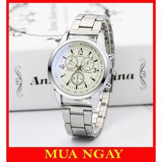 Đồng hồ nam Quartz cao cấp dây đeo kim loại lịch lãm DH104