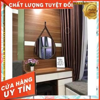 [Giá Sập Sàn] GƯƠNG TRÒN VIỀN DA (MÀU ĐEN) TREO TƯỜNG CAO CẤP – BAO VỠ TOÀN QUỐC – Home Luxury 360