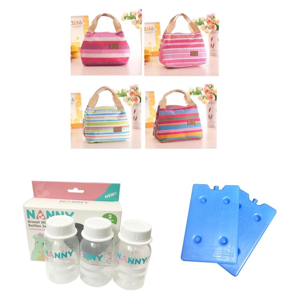 Combo túi giữ nhiệt kẻ ngang + 2 thanh đá khô phẳng + 3 bình trữ sữa Nanny - 10007772 , 965509441 , 322_965509441 , 250000 , Combo-tui-giu-nhiet-ke-ngang-2-thanh-da-kho-phang-3-binh-tru-sua-Nanny-322_965509441 , shopee.vn , Combo túi giữ nhiệt kẻ ngang + 2 thanh đá khô phẳng + 3 bình trữ sữa Nanny