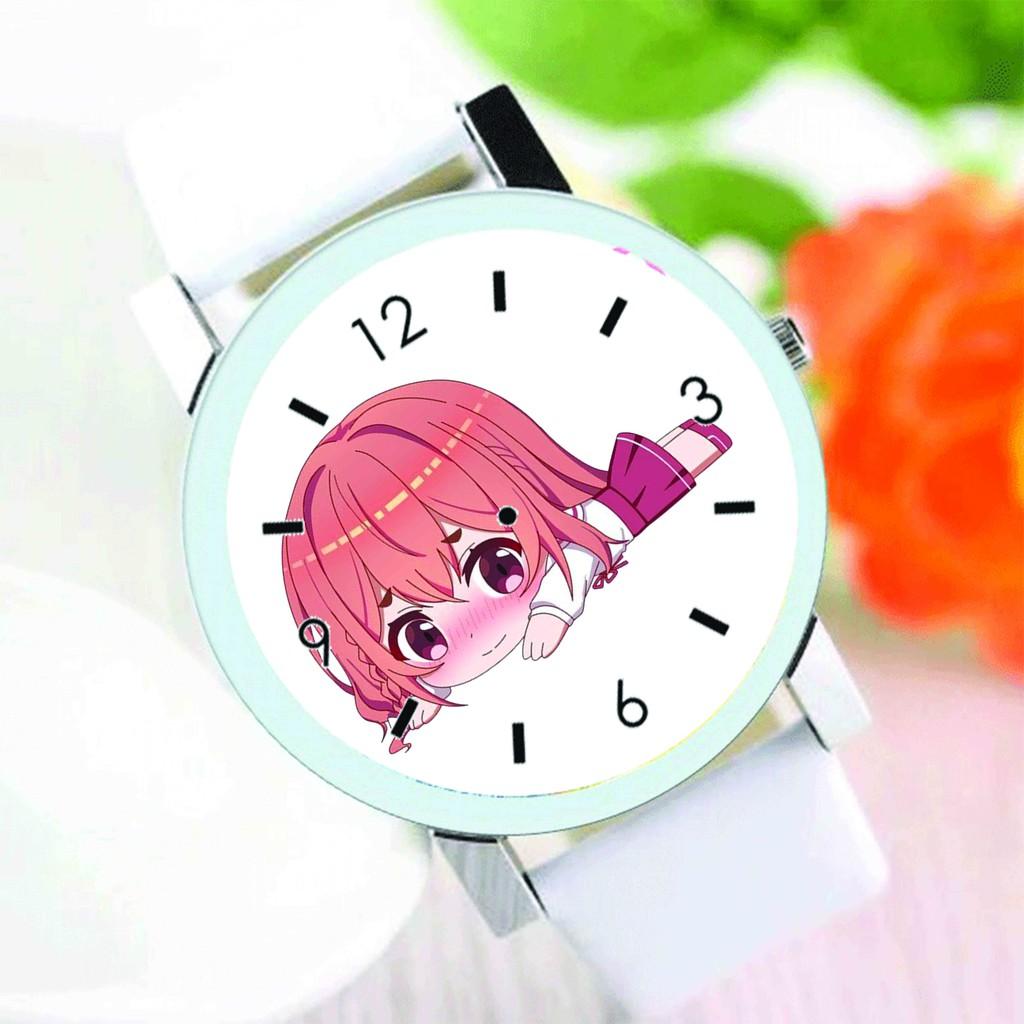 Đồng hồ đeo tay nam nữ in hình Kanojo, Okarishimasu DỊCH VỤ CHO THUÊ BẠN GÁI anime chibi thời trang dễ thương độc đáo