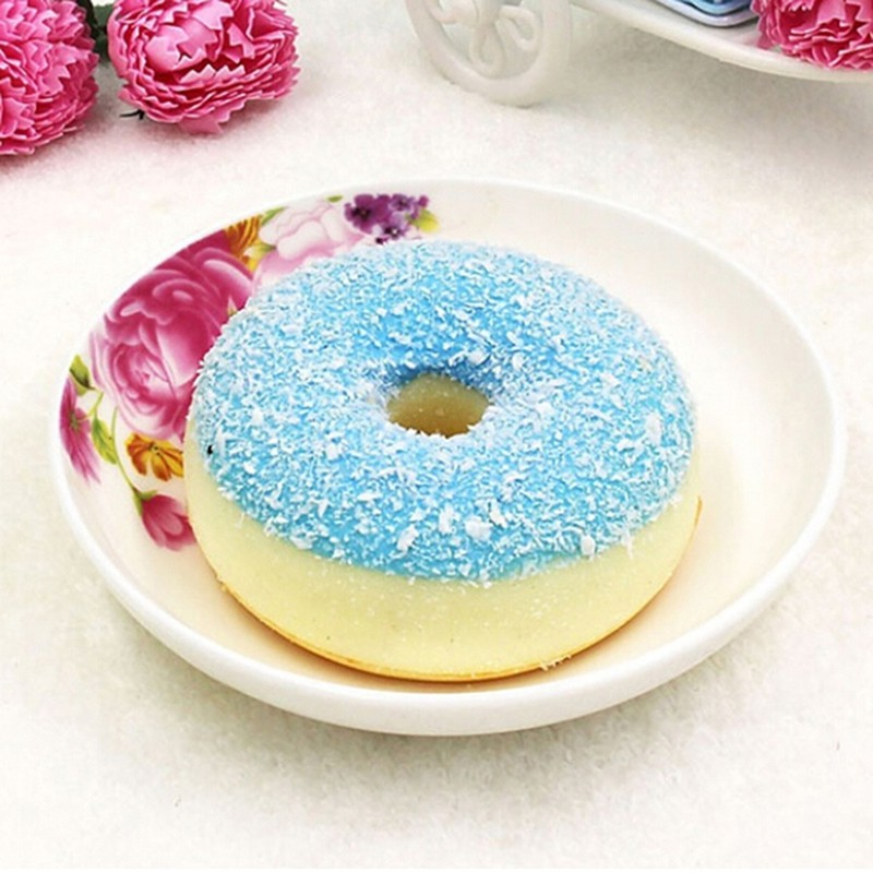 SUN55❤❤10Pcs kawaii donut squeeze toy slow rising squeeze pu donuts squeeze orna