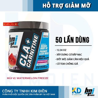 CLA + Carnitine 50 lần dùng, giảm cân đốt mỡ, chuyển hoá năng lượng từ mỡ thừa BPI Sports