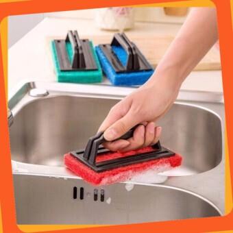[Siêu Phẩm] Miếng bọt biển chà vệ sinh có tay cầm tiện dụng cho gia đình