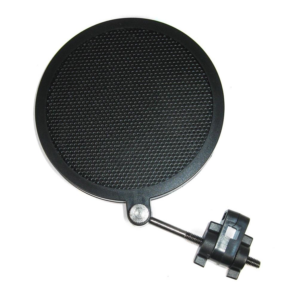Double Layer Windproof Recording Black Anti Noise Easy Install Studio Plastic