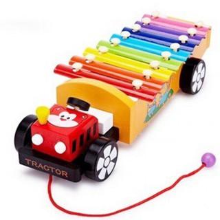 [Kid's Toy] Đàn xe kéo ô tô – Đồ chơi gỗ an toàn cho bé [Giá lẻ rẻ như giá buôn]