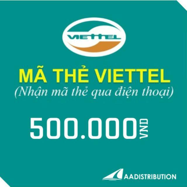 Thẻ cào 500k viettel
