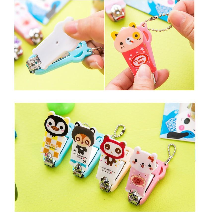 Bấm móng tay móc khóa hình thú cute - giao mẫu ngẩu nhiên