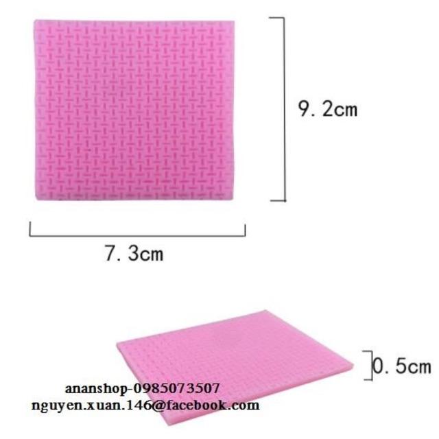 Khuôn silicon 3D tạo hình ren hồng