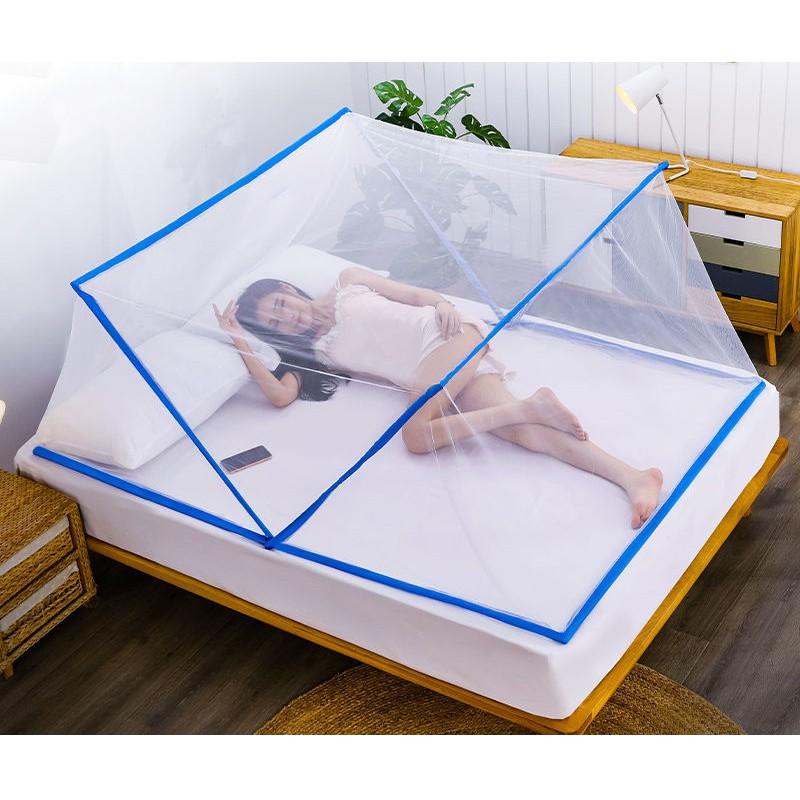 Mùng Ngủ Gấp Gọn 180 Độ Tiện Lợi Dành Cho Giường Đơn Người Lớn Hoặc Cho Trẻ Thành Niên Kích Cỡ 1x1.9m Và 1.35x1.9m