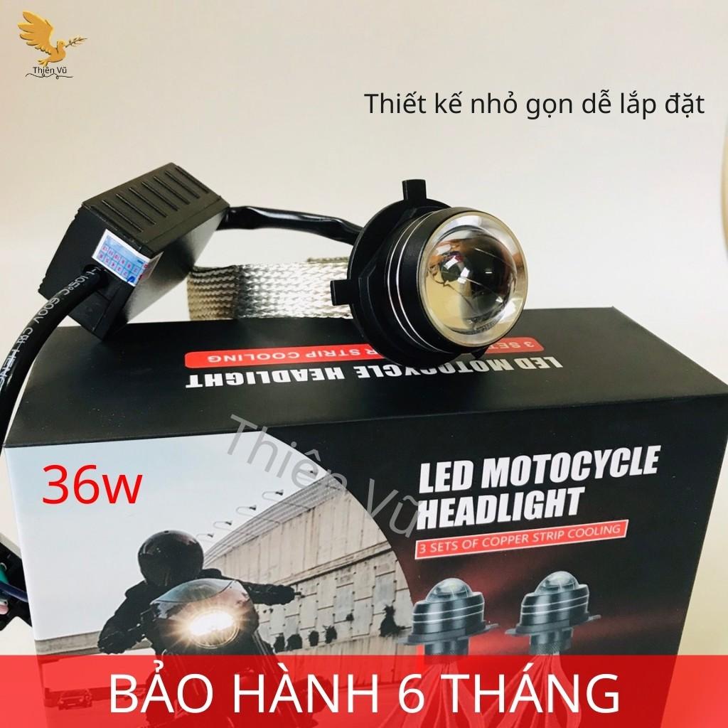 Đèn Pha Led RUBY Bi Cầu Mini 2 Màu Đuôi Công Siêu Sáng 36w Lắp Ô TÔ - XE MÁY. Giá 1 Bóng