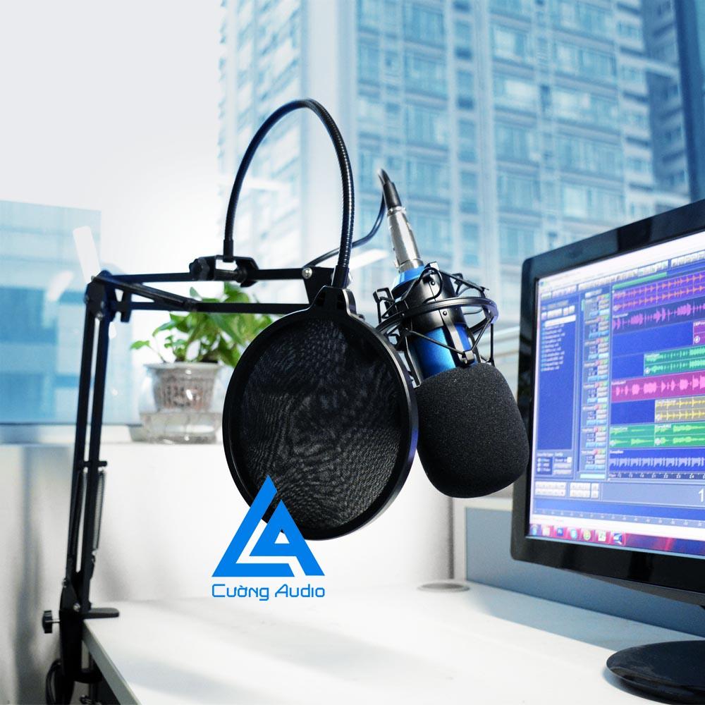 Combo mic thu âm,hát karaoke online (XOX K10, BM800 , Bông lọc, Chân đế, giá gắn mic )