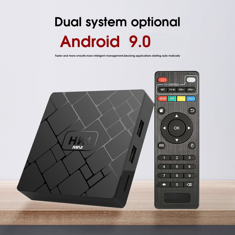 HK1 mini Smart TV BOX Android 9.0 2GB+16GB RK3229 Quad-Core WIFI 2.4G 4K 3D HK1mini Google Netflix Set-Top Box