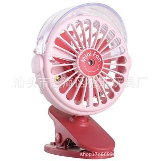 Quạt phun sương mini Spray fan,3 chế độ phun sương, quạt kèm phun sương, có đèn