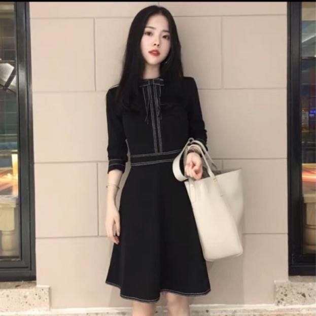 ORDER Váy nữ màu đen [kèm ảnh thật] hàng quảng châu loại 1