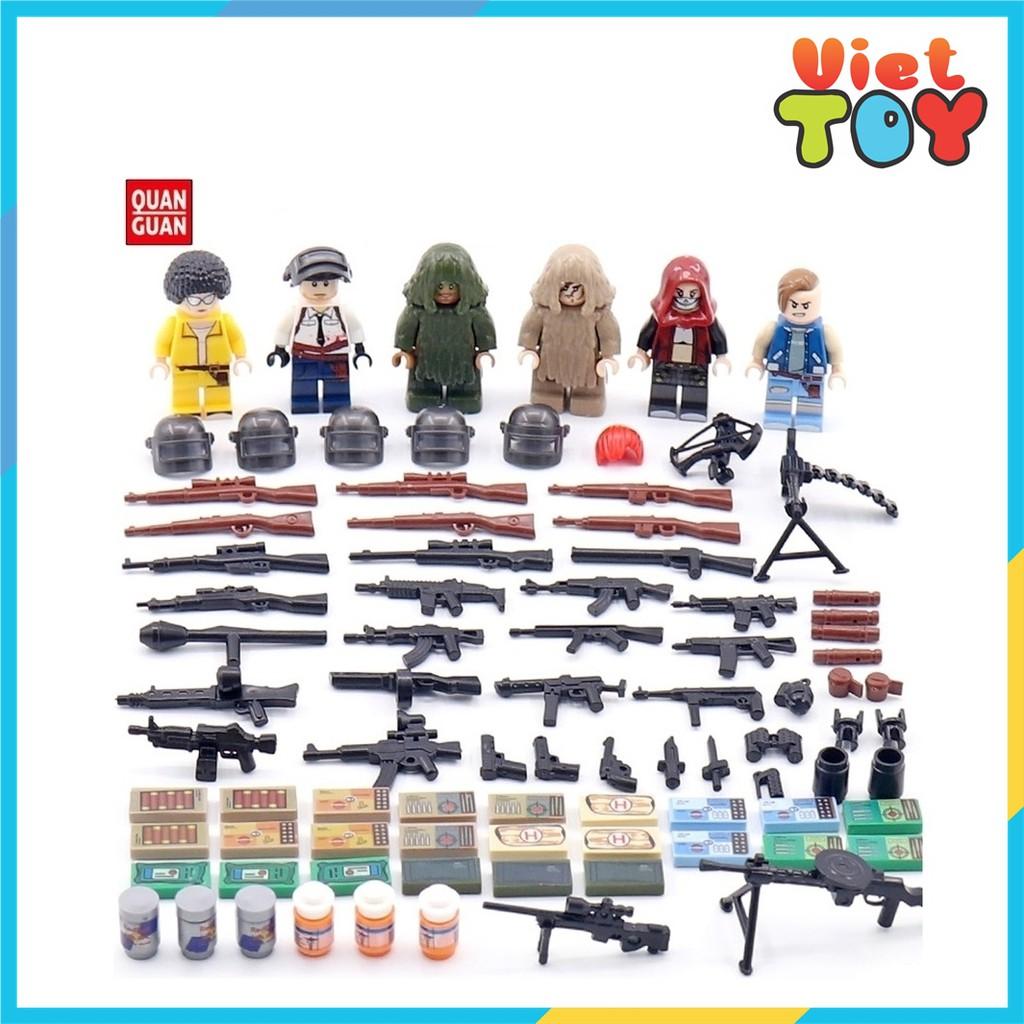 Combo 6 hộp mini lego PUBG Battle Grounds Chiến thuật ngụy trang – 5050