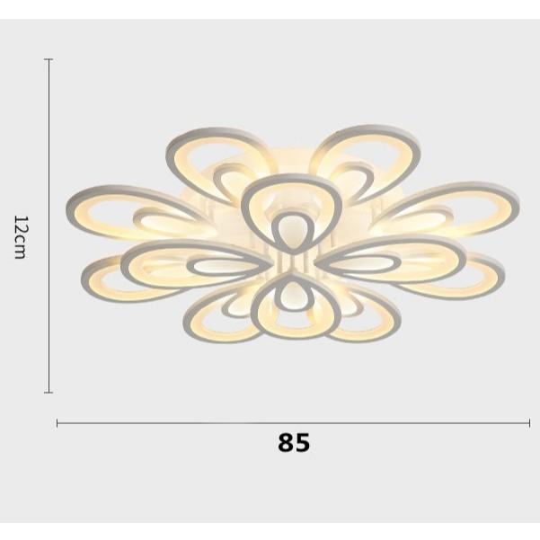 Đèn ốp trần MONSKY ARICO 12 cánh hoa kiểu dáng độc đáo, sang trọng trang trí nội thất hiện đại với 3 chế độ ánh sáng.
