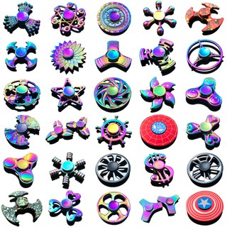 [5/5]Colorful fingertip top zinc alloy decompression toy hand spinner finger top