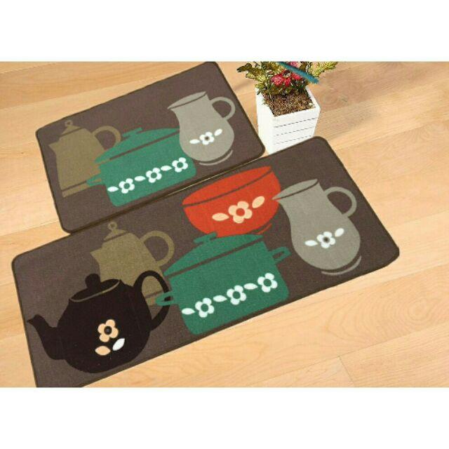 Bộ 2 tấm Thảm nhà bếp | Thảm chống trượt nhà bếp | Thảm trải sàn nhà bếp
