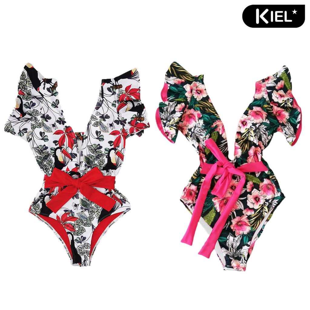 Mặc gì đẹp: Tắm biển vui với Đồ Tắm Một Mảnh In Họa Tiết Hoa Quyến Rũ Dành Cho Nữ