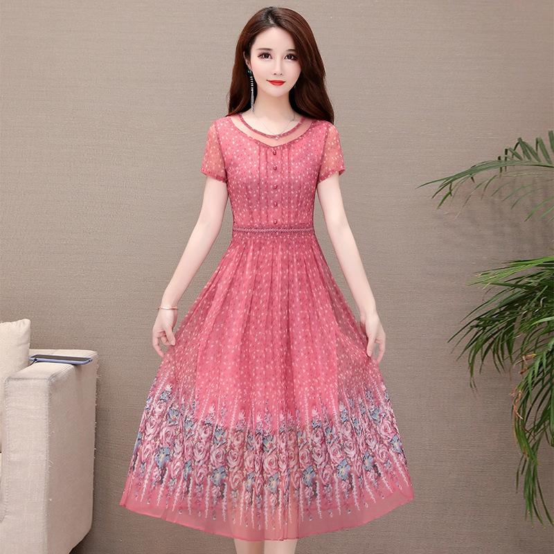 váy hoa tay dài thời trang cho nữ