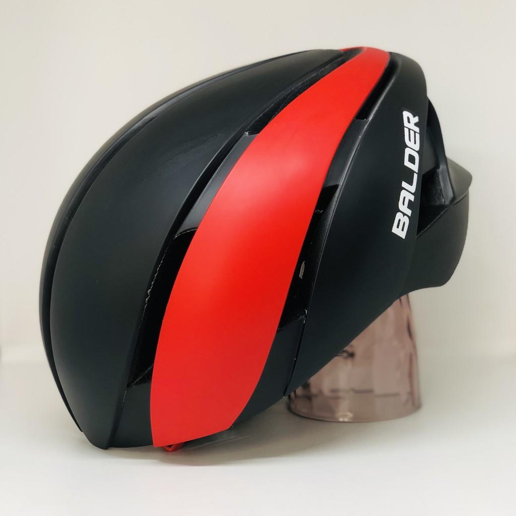 Nón xe đạp thể thao BALDER B86 cao cấp ĐEN ĐỎ