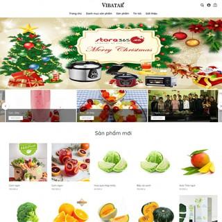 Giao diện website Vibatar