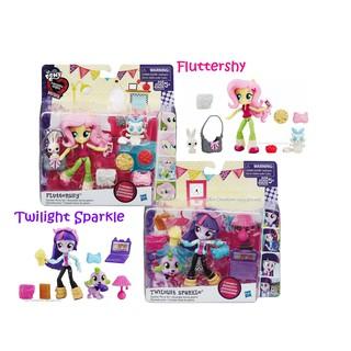 HỘP Búp bê Pony 12cm kèm Thú cưng & Phụ kiện chủ đề Buổi tiệc ngủ My Little Pony Minis Playset thumbnail