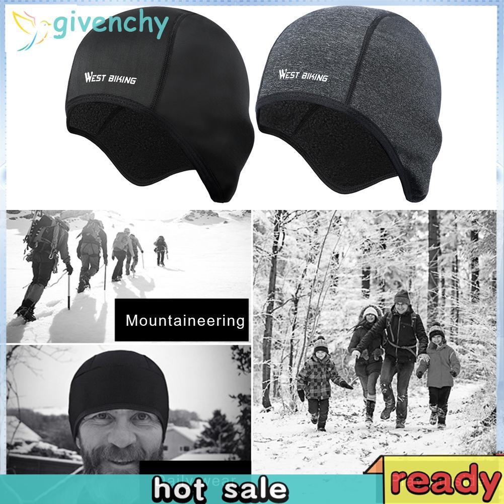 Mũ Bảo Hiểm Đệm Lông Giữ Ấm Khi Chạy Xe Đạp