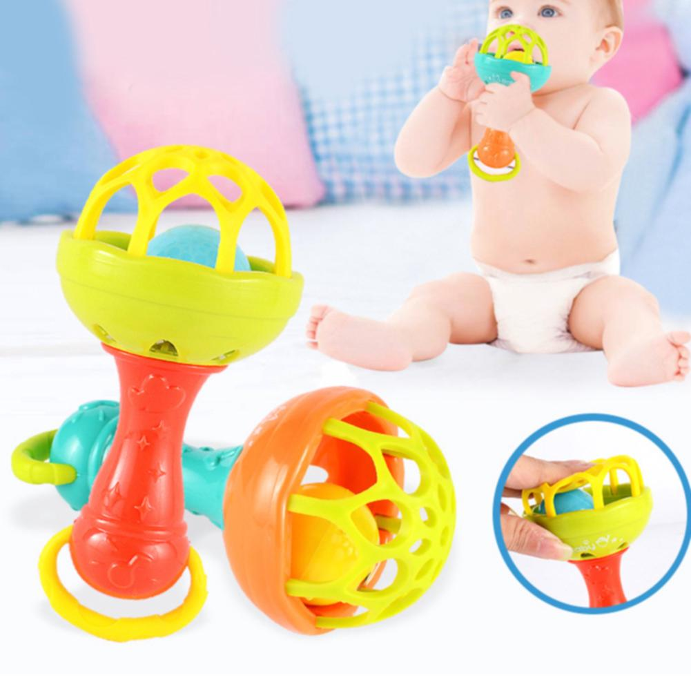 Musical Hollow Educational Cartoon Bright Colors Soft Early Learning Baby Rattles