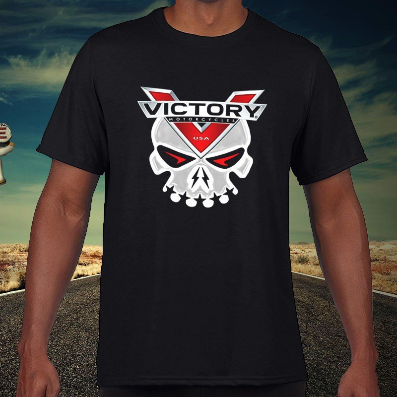 Victory Motorcycles Men'T-Shirt Victory Factory Racing Skull Raiders Men'T-Shirt Father's Day Gift