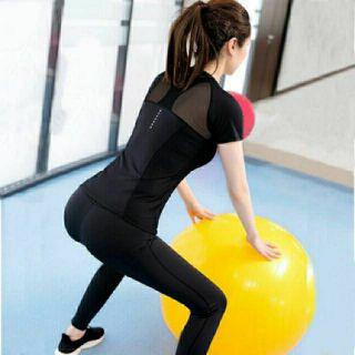 Yêu Thích[Mã WANOV30 hoàn 15% xu đơn 99k] áo tập gym,aerobic, áo tập yoga phối lưới nữ