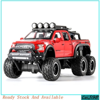 [CJ] 1:28 Ford Raptor Off-road Car Model Children Return Force Light and Sound Car Toy