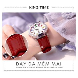 Đồng hồ nữ KingTime Đính Đá Ruby Rainbow - Mặt to nổi bật