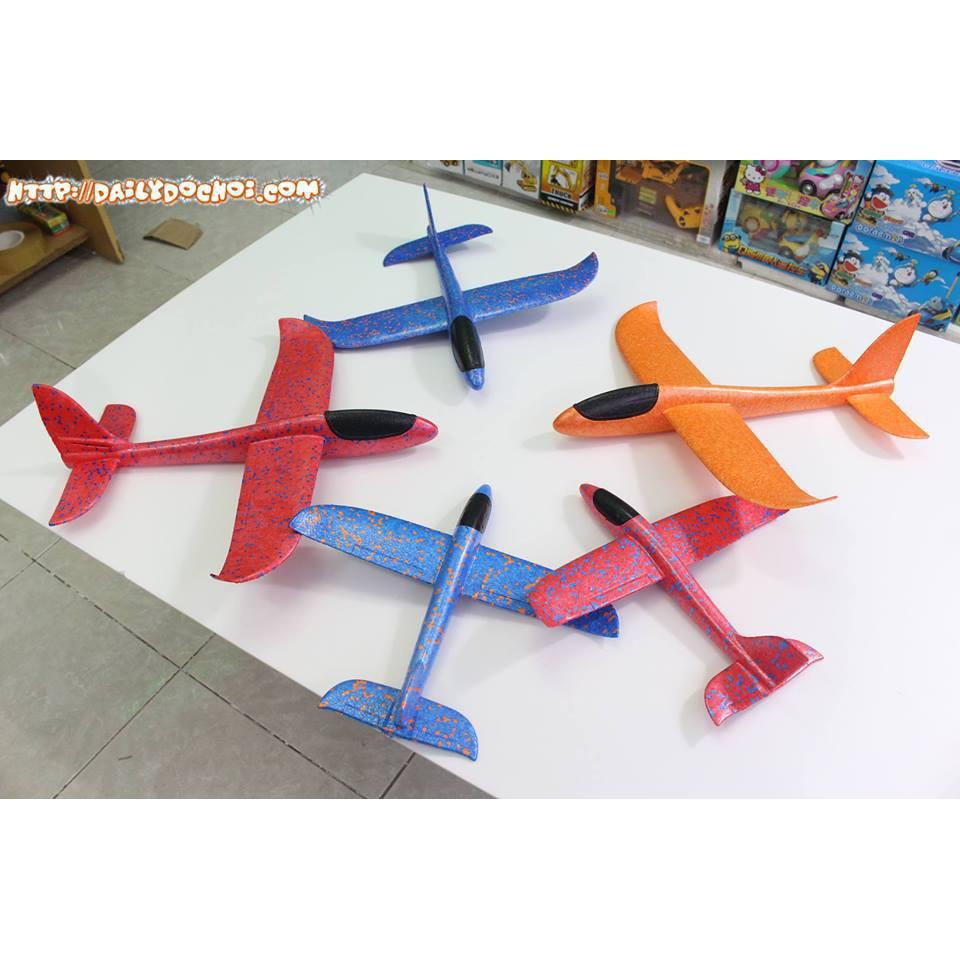 [Nhập mã TOYJUNE giảm 10K]Máy bay xốp cho bé màu xanh hồng. Máy bay tiêm kích phi tay bakhong