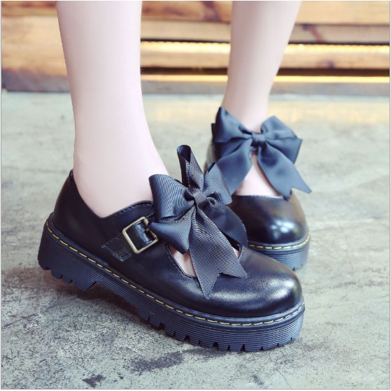 Giày nữ Lolita phối nơ phong cách Nhật Bản - TGS-G