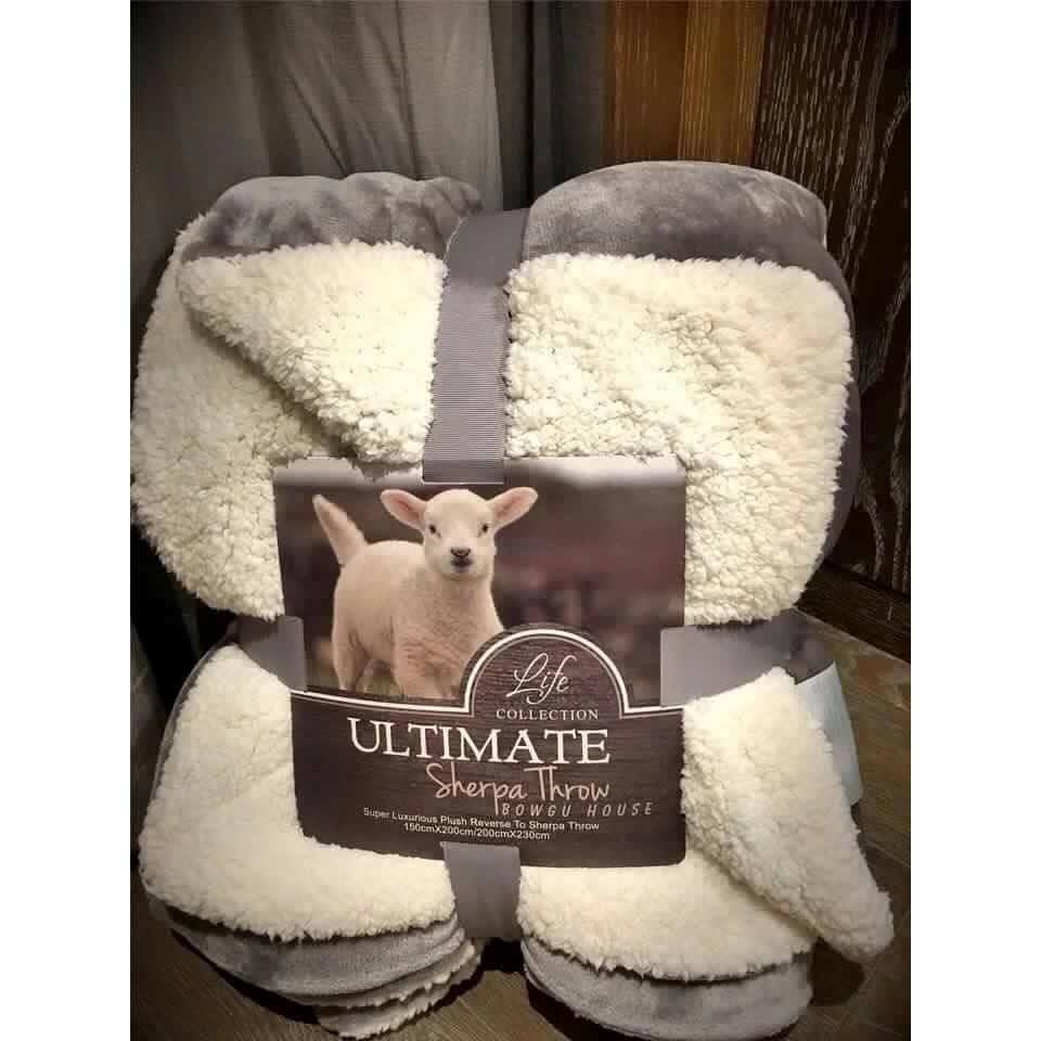 Chăn lông cừu Ultimate loại 1 (2m x 2m3) - 3381391 , 610748772 , 322_610748772 , 375000 , Chan-long-cuu-Ultimate-loai-1-2m-x-2m3-322_610748772 , shopee.vn , Chăn lông cừu Ultimate loại 1 (2m x 2m3)