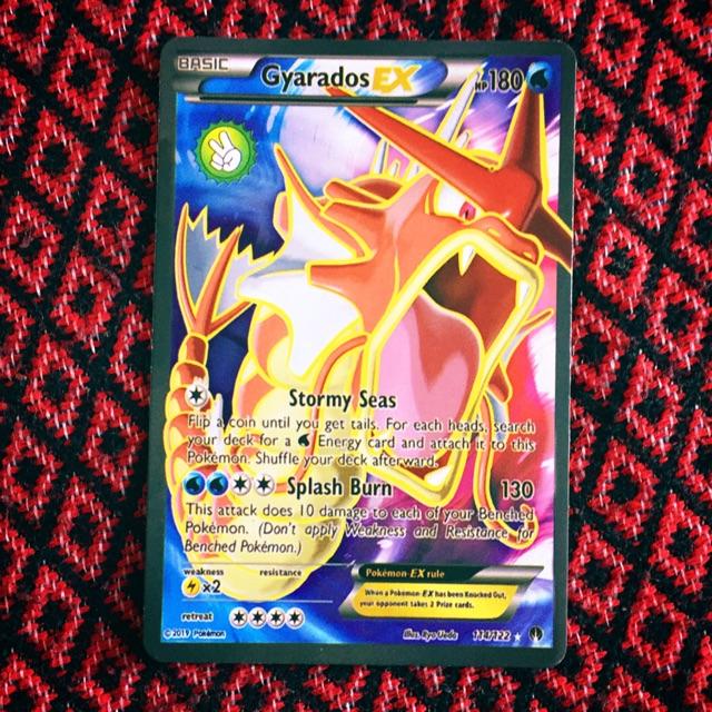 Thẻ bài Pokemon Basic – Gyarados EX – tặng kèm 4 con basic
