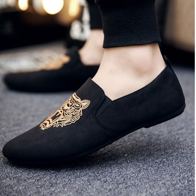 Giày Lười Thêu Hổ Da Lôn Siêu Nhẹ Pinter01 ShopTran