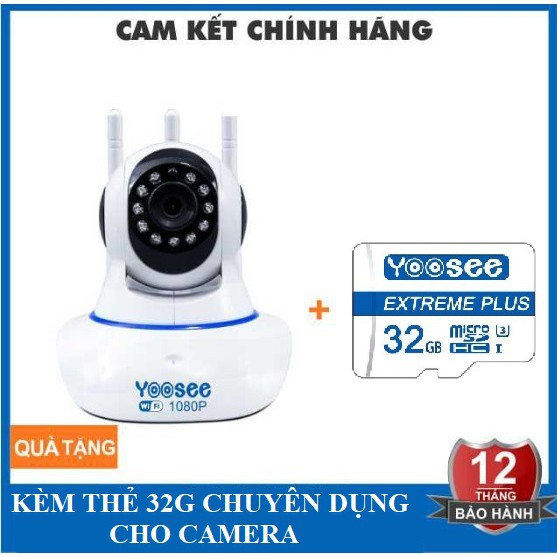Camera Yoosee 3 Anten 2.0M - 1080P - Hình ảnh cực nét