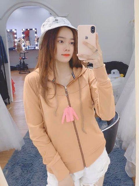 Áo khoác nữ dây kéo nón 6 túi cao cấp